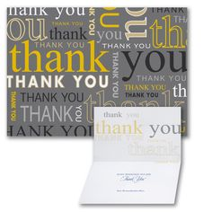 Many Thanks Thank You Notes, Thank You Cards, Thank You Card Design, Bold Typography, Types Of Printing, Etiquette, Letterpress, Appreciation, Stationery
