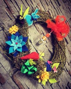 Celebrate Easter with colorful wreaths which brighten up your home