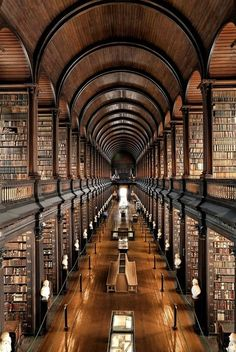 Old Library at the Trinity College, Dublin, Ireland