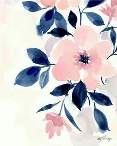 art acuarela Charmed Floral Marketplace Art P - art Watercolor Flowers, Watercolor Paintings, Watercolors, Floral Watercolor Background, Watercolor Pattern, Watercolor Illustration, Painting Art, Flower Wallpaper, Floral Wallpaper Iphone