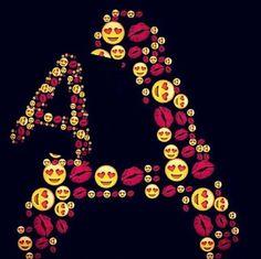 A ❤ Alphabet Latin, Alphabet Images, Alphabet Design, Alphabet Wallpaper, Heart Wallpaper, Love Wallpaper, Name Tattoos, Body Art Tattoos, Stylish Alphabets