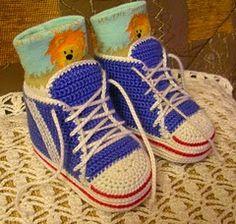 Free Crochet Baby Sneakers Pattern