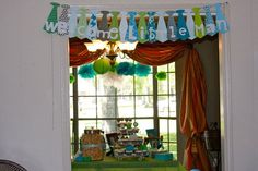 Welcome Little Man banner, baby shower, baby boy, tie