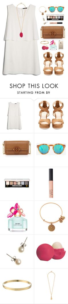 """""""senior picssss"""" by classically-preppy ❤ liked on Polyvore featuring MANGO, Pull&Bear, Tory Burch, Illesteva, Bobbi Brown Cosmetics, NARS Cosmetics, Marc Jacobs, Alex and Ani, J.Crew and Eos"""