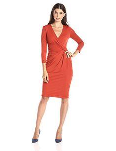 989cf20441c Anne Klein Women s 3 4 Sleeve Draped Dress