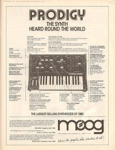 Moog Prodigy. The synth heard around the world.