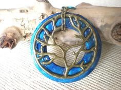 Tree of Life Pendant: Blue