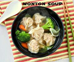 The perfect antidote to this cold weather - it's comfortingly delicious and so easy to make as well! Add your fave veggies to the soup, if you like. Oh so tasty! #wonton #soup