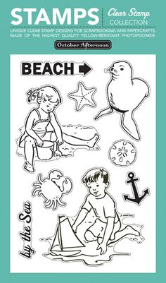 October Afternoon's Beach Stamps
