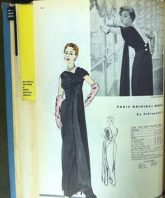 From The McCall Pattern Company archives: a page from a 1954 Vogue Patterns catalog. #voguepatterns #vintagepatterns #Schiaparelli‎