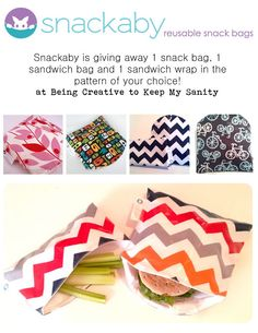 Snackaby's {Back to School} Giveaway  Enter for your chance to win some cute lunch bags