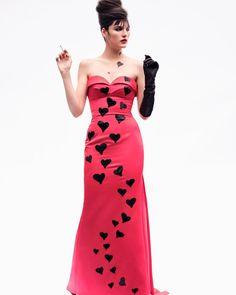 "Moschino on Instagram: ""Moschino @vmagazine @nathanielgoldberg #anastasiabarbieri #moschino @jeremyscott"" Strapless Dress Formal, Formal Dresses, Anastasia, Style Ideas, Moschino, Ads, Instagram, Fashion, Dresses For Formal"