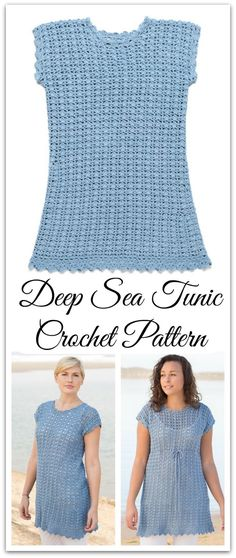 Perfect project for beginners! This summery tunic is worked in a lovely shell stitch and simple shaping for a comfortable A-line shape. PDF download available. #ad #affiliate #crochet #pattern