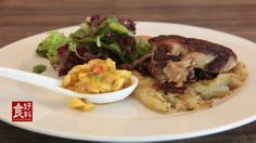 Duck Confit on Apple Roesti with Mango Relish