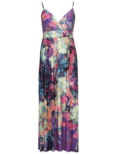 4c260af7055 Spaghetti Strap Floral Printed Plus Size Maxi Dress Plus Size Midi Plus  Size Maxi Dresses
