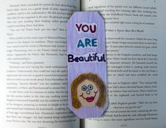 You are Beautiful Bookmark, Inspirational Bookmark, Motivational Bookmark, Bookmarks, Christmas Gifts, Stocking Stuffers, Kids Gifts by DivinitysDivineTouch on Etsy