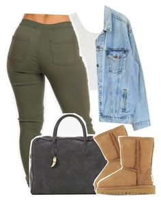 """Falsetto"" by kiaratee ❤ liked on Polyvore featuring Topshop, Levi's, Balmain and UGG Australia"