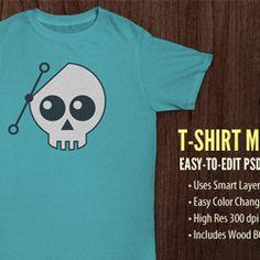 T-Shirt PSD Mockup Templates for Designers psd-dude.com Resources