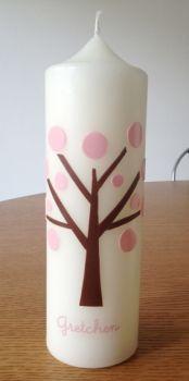 kerzenmaedchen - Taufkerze mit Baum