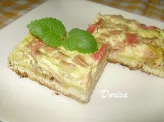 Fotorecept: Rebarborový koláč s pudingovým krémom