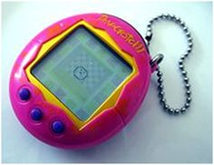 In the 1990's virtual pets got their start and Tamagotchi was the big player in this business. Using the Tamagotchi, children hatched a virtual egg and took care of it so it could 'grow up' healthy and strong.