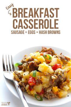 Easy Cheesy Breakfast Casserole | gimmesomeoven.com