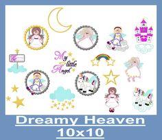Stickdatei  ♥Dreamy Heaven♥ 10x10 von SewDreams - Nähträume zum Kaufen auf DaWanda.com
