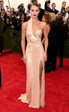 Rosie Huntington-Whiteley from 2015 Met Gala...More beautiful details to recreate for that ultimate bridal look.