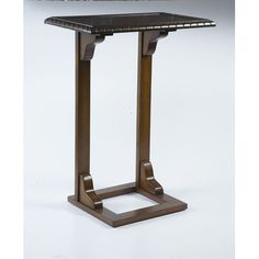 "Bernards End Table  Overall: 28.25"" H x 20"" W x 12.5"" D Overall Product Weight: 11lbs  $79.00"