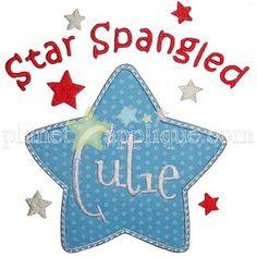 Star Spangled Cutie Applique