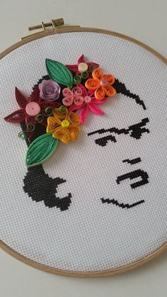 Frida Kahlo Quilling Art Quilling Wall Decor by AuroraSanat