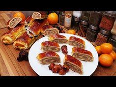 Gesztenyés bejgli beigli / Szoky konyhája / - YouTube Hungarian Recipes, Sausage, French Toast, Food And Drink, Meat, Breakfast, Youtube, Places, Food