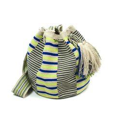 Precioso Bolso Wayuu en color Beige diseño exclusivo de Guanabana