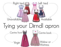 Tying your Dirndl apron from Polyvore