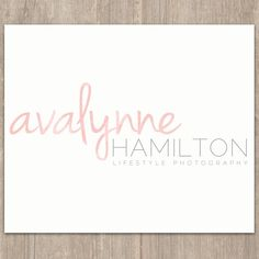 I like the Hamilton Lifestyle Photographer part of this -- Font/branding/logo