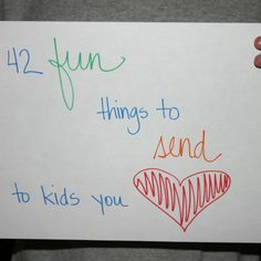 42 fun things to send through the mail to kids you love | Simply Faithful