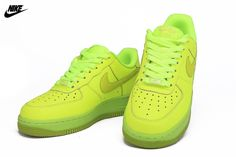 half off 7323b 89bf7 Mens Nike Air Force One GS Low Casual Shoes Volt Fierce Green 596728-701, Nike-Air Force One Shoes Sale Online