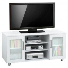 mesa para tv centro estant dos puertas acrlico blanco uc