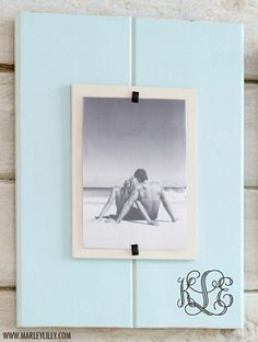 """Personalized 14.5"""" x 11""""  Sea Foam Large Picture Frame"""