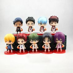 If you love Kuroko no Basuke, this set of 9 action figures would be awesome to add to your collection! Standing in pose with a basketball by their side, these action figures measure 8cm tall, come wit