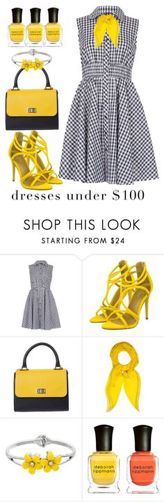 """Under 100$"" by avramraisa ❤ liked on Polyvore featuring Izabel London, Hermès, Deborah Lippmann and under100"