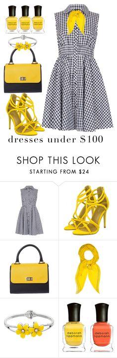 """Under 100$"" by avramraisa ❤ liked on Polyvore featuring Izabel London, Hermès, Deborah Lippmann and under100"