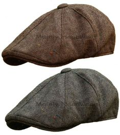 STETSON Tweed Mens GATSBY Cap Newsboy IVY hat Golf wool driving flat m l xl 8f0ebae3d61