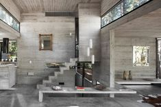 Concrete Home Design Impressive Modern House Architecture Designs At Modern House Design With Concrete Opened To Concrete Architecture, Interior Architecture, Futuristic Architecture, Landscape Architecture, Landscape Design, Wooden House Design, Concrete Interiors, Concrete Houses, Concrete Bench