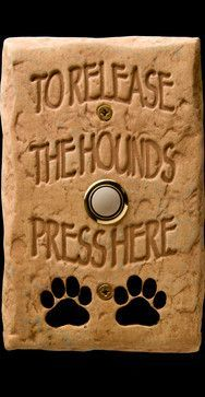 DogBellz -- Handmade, Hand-painted, Made-in-the-USA Dog Doorbells - eclectic - products - miami - DM Decos by Design, Inc. - If we ever replace our doorbell - we need this :-) Reno, Basset Hound, The Ranch, Dog Life, I Love Dogs, Pet Grooming, Fur Babies, Dog Cat, Cute Animals