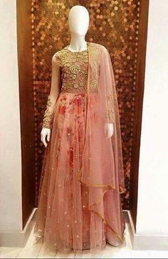 Floral lehenga with Net work