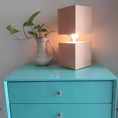 Handmade, modern style wood lamp - perfect for a desktop, night-table, or as an accent lamp in the living room or bedroom. Made from beautiful reclaimed wood found here in the Santa Barbara area. Standing 12 inches tall, by 4.75 inches wide. The top wood block looks like it is