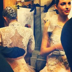 ALEXIS MABILLE COUTURE - BEHIND THE SCENES