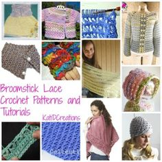 Broomstick Lace #Crochet Patterns and Tutorials | STOP searching and START making. CrochetStreet.com