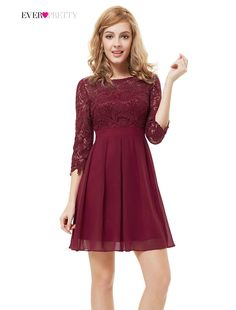 3299db6490  Clearance Sale  Cocktail Dresses Ever Pretty HE05075 Women 3 4 Sleeve Lace  Short